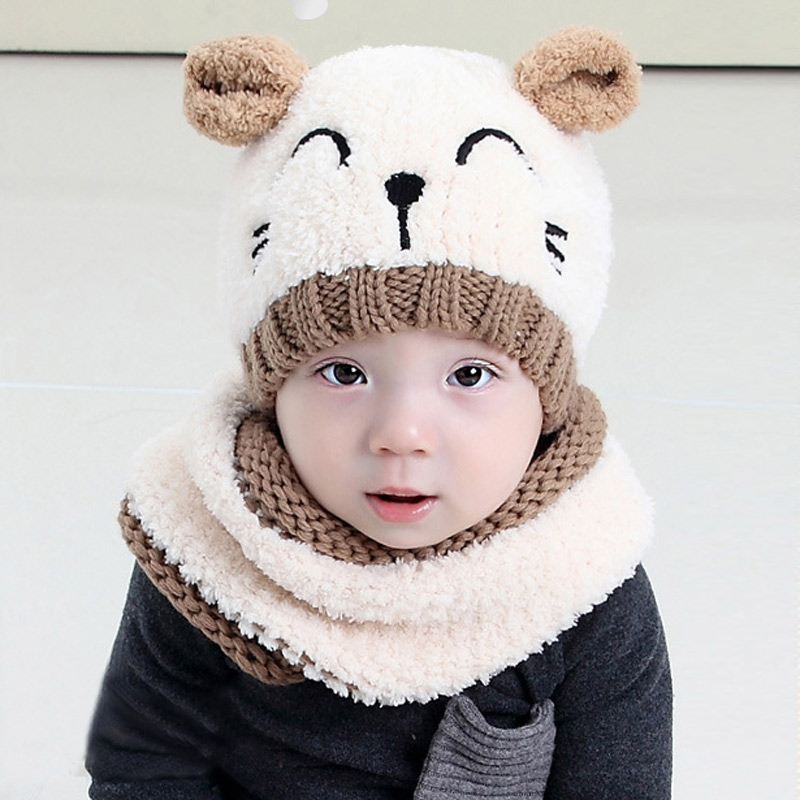 loveliness 2 piece/ set hat and scarf set baby winter cap knit beanie bonnet warm hats for children warmer photography props cap zea rtm0911 1 children s panda style super soft autumn winter wear cap scarf set blue
