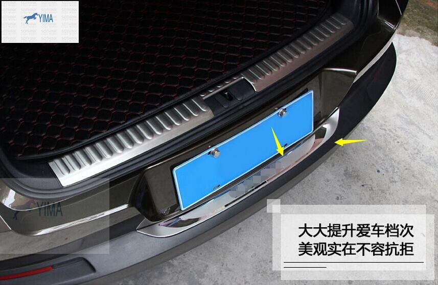 Accessories For VW Tiguan 2010 - 2015 Stainless Steel Rear Door Bumper Protector sill plate / Protection Kit