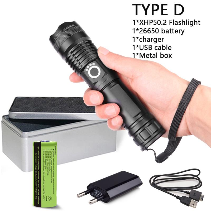 Zoom Flashlight Torch Lamp Light 3000LM XM-L T6 LED 18650-26650+Battery+Charger
