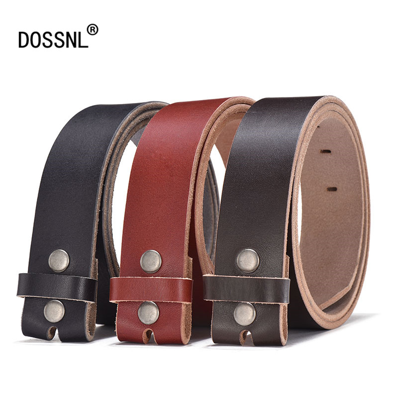 DOSSNL 2018 New 100 Genuine Leather Belts Without Buckle Fashion font b Men b font font