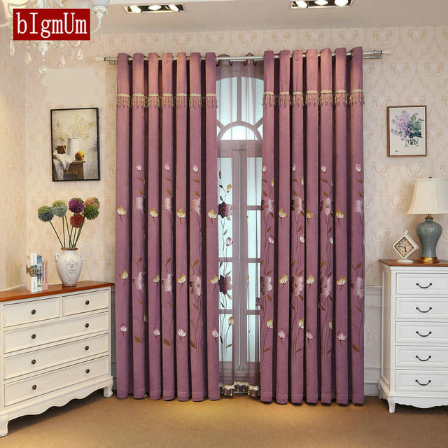 Embroidery Elegant Tulle Curtains For Living Room Dining Room Window Drapes  Shading Cloth Curtains Sheer Home