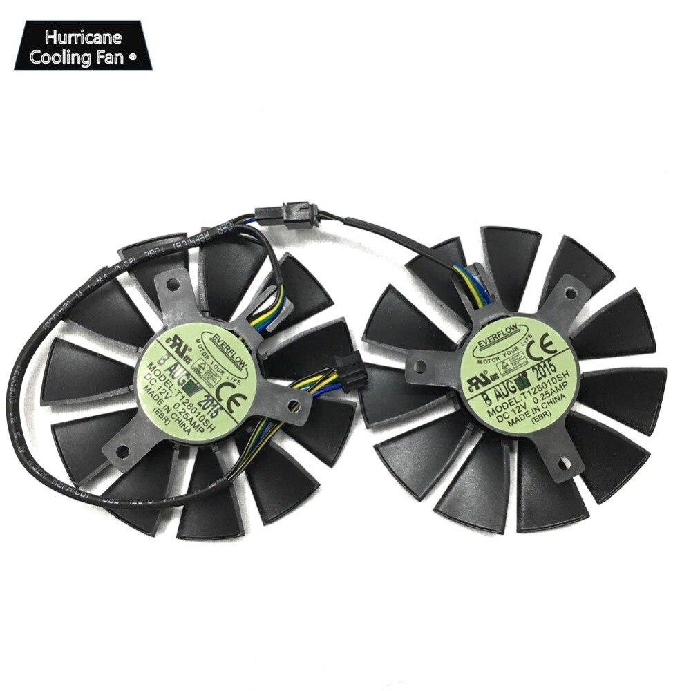 T128010SH 12V 0.25A 75mm VGA Fan For STRIX GTX 960 GTX950 GTX 750TI R9 370 R9 285 Video Card Cooling Fan