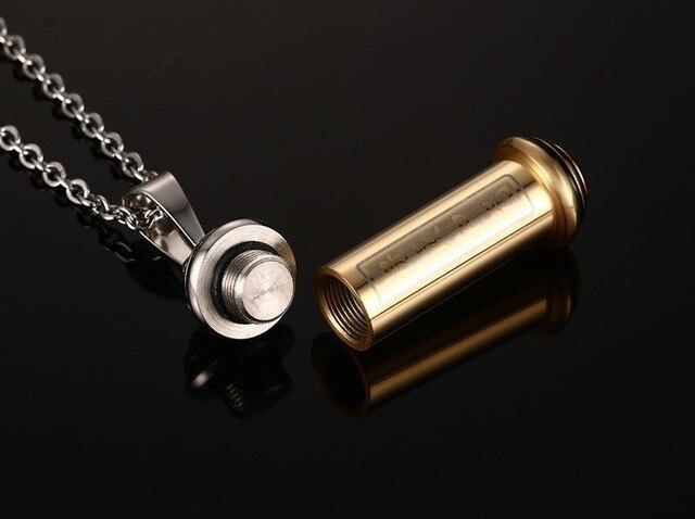 Фото мужское ожерелье из нержавеющей стали кулон серебряного цвета