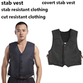 Unique polymer materials self defense stab resistance covert V-Neck vest stichschutzweste cut resistant police tactical clothing