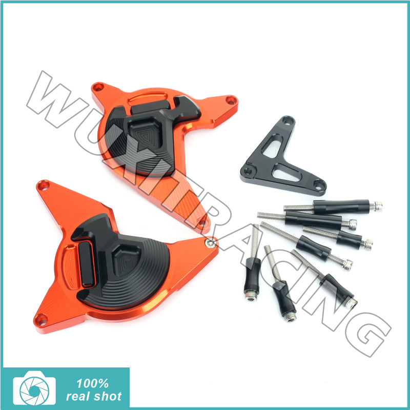 1 Set Motorcycle CNC Billet Aluminum Alloy Engine Frame Slider Crash Pads  for KTM DUKE 200 Cover Protector Guard 1pcs openbuilds slider gantry plate standard 65 65 3mm aluminum alloy cnc special slider plate for 3d printer