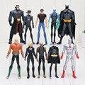 5pcs/set 10-11.5cm Movie The Avengers Batman Flash Superboy Aquaman Captain Atom PVC Action Figures collection Toys