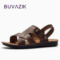 BUVAZIK Vera Pelle di alta qualità degli uomini, impermeabile e indossabile morbidi e confortevoli sandali piani casuali per il 2018 estate