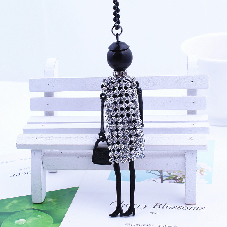 HOCOLE New Fashion doll Pendant Necklace Jewelry sales lovely dress doll pendant jewelry women doll necklace free shipping