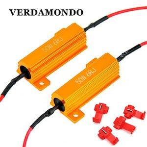2x50 w 6 ohm carga resistor edcoder carro led drl nevoeiro freio volta singal para corrigir lâmpada led erro piscando pisca rápido hyper flash