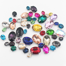 New 50pcs/lot Glass Crystal Stones Silver 4 Claw Base Sew On Rhinestones DIY Handmade Crafts Sewing For Clothes