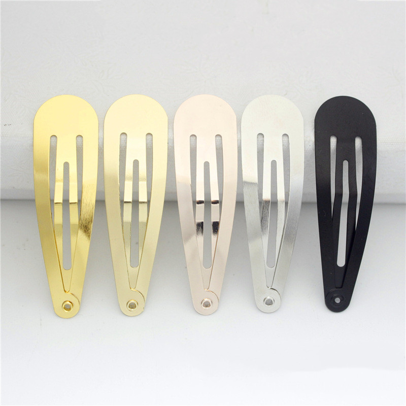 100pcs 5cm High-quality Gold Or KC Gold Color BB Clips Non Slip Snap Clips Slides Hair Bows