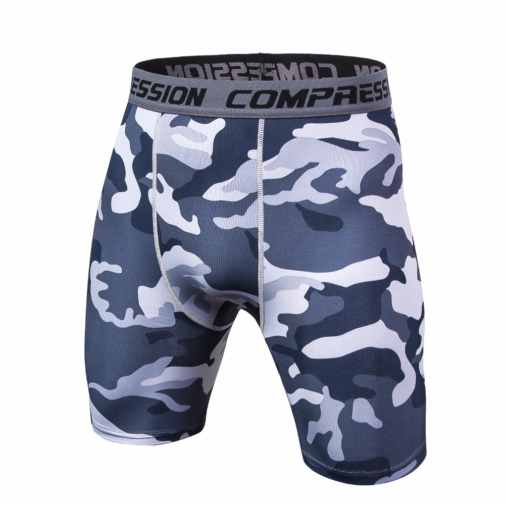 Mens 3D Printing Compression Shorts Summer Camouflage Bermuda Shorts Fitness Men Cossfit Bodybuilding Tights Camo Fitness Shorts