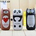 VILEAD Bonito Panda & Owl & Rilakkuma & Pooh 220 ml inoxidável thermo Caneca de aço portátil copo garrafa térmica de água quente garrafa de Termos
