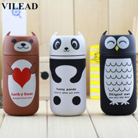 Cute Panda Owl Rilakkuma Pooh Thermos 220ml Stainless Steel Portable Thermo Cup Vacuum Flask Cup Hot