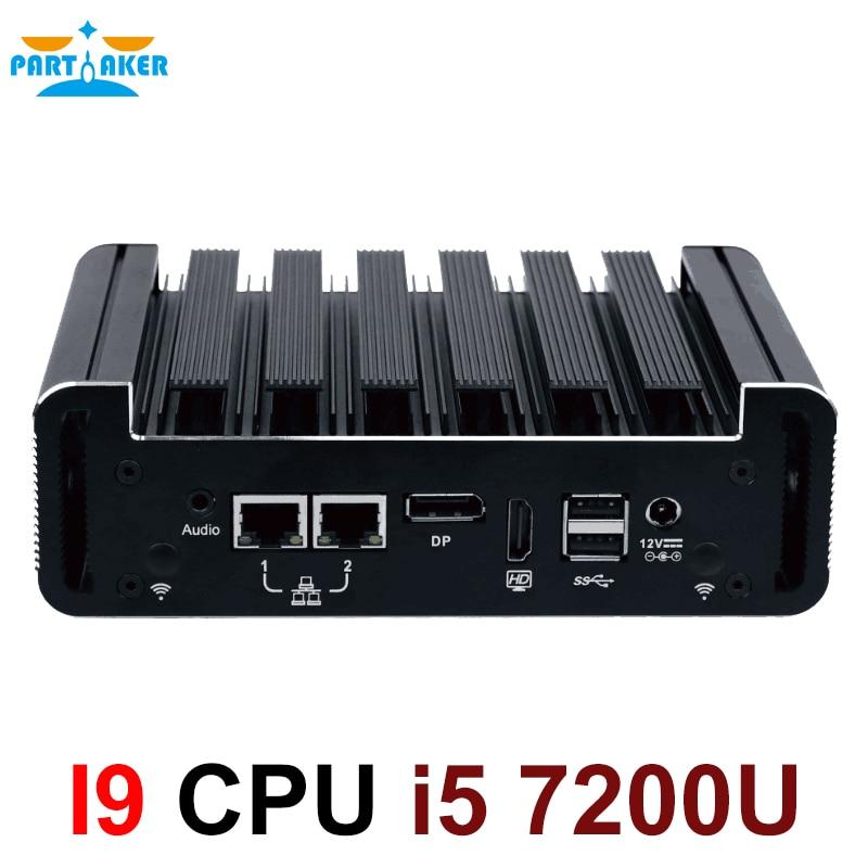 Intel Core I5 7200U Industrial Mini PC Win10 Mini Computer DDR4 RAM MSATA SSD Minipc Intel NUC 4K HD RS232 I5 Portable PC 7200U