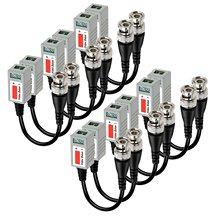 20 adet pasif Twisted Video Balun telsiz erkek BNC CAT5 RJ45 UTP CCTV AHD DVR güvenlik kamerası sistemi