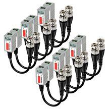 20 pcs Trançado Passiva Vídeo Balun Transceiver BNC Macho para CAT5 RJ45 UTP para CCTV AHD DVR Sistema de Câmera de Segurança