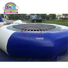 Outdoor Inflatable Water Trampoline With Slide Rental Inflatable Lake Water Bouncer For Aqua Park
