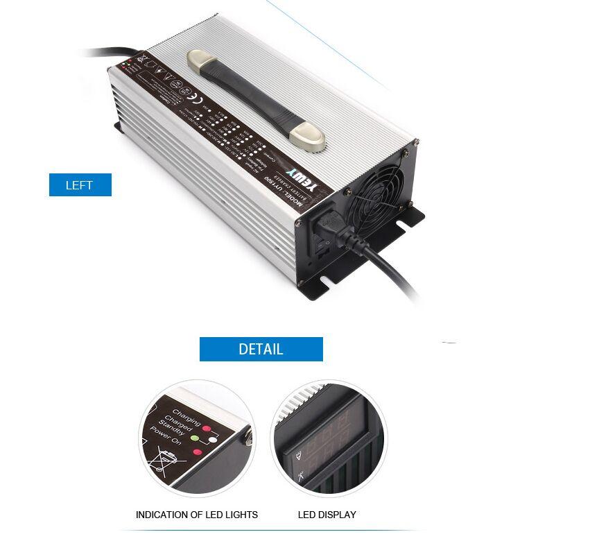 96 V 15A Voiture/EV Batterie Chargeur 117.6 v 15amp gel/plomb acide batterie chargeur pour chariots élévateurs
