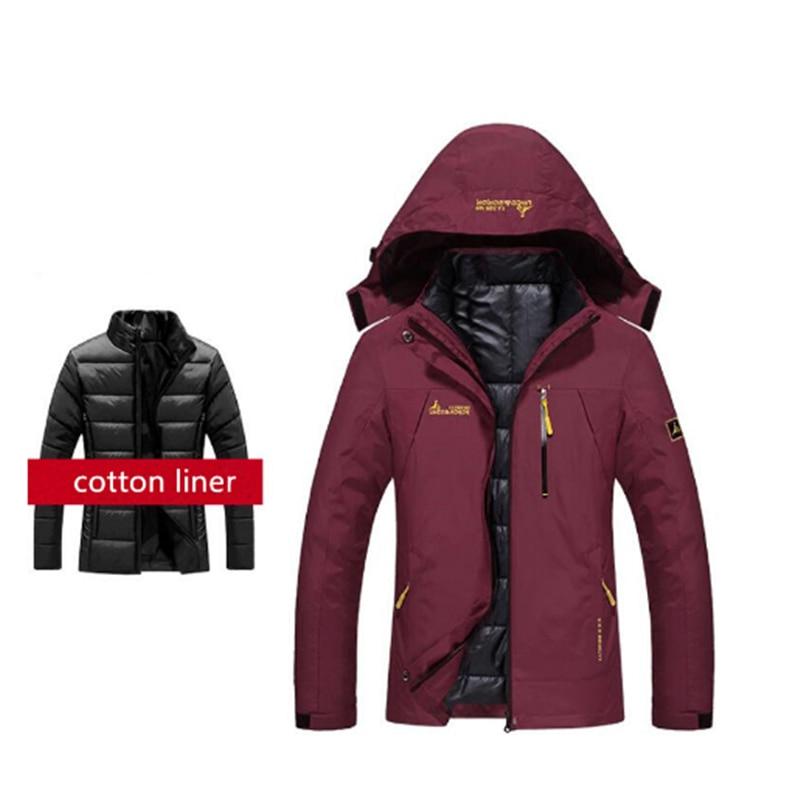 Winter Soft Shell Waterproof Jacket Women Men's Outdoor Hooded Skiing Windproof Fleece Warm Hiking Jackets With Detachable Liner