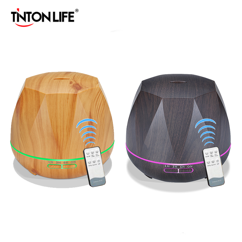 TINTON LIFE 550ML Air Humidifier Remote Control Humidificador Mist Maker Essential Oil Aroma Diffusor Aromatherapy