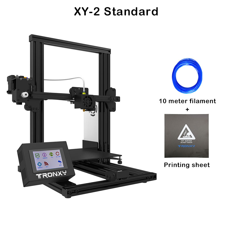 US $183 0 40% OFF|Tronxy XY 2 Touch Screen 3D printer Large Size I3 XY 2  printer 3D Continuation Print Power Glass Auto leveling option-in 3D  Printers