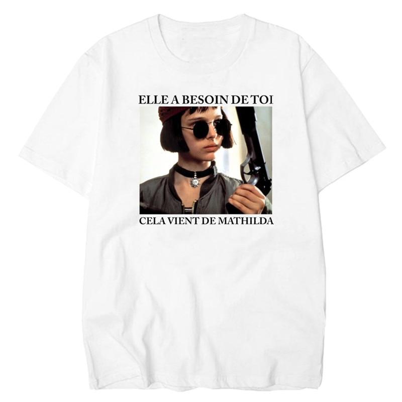 Leon Professional   T     shirts   men   T     Shirt   White Harajuku   Shirt   Vintage Matilda Tee   Shirt   Femme top tee
