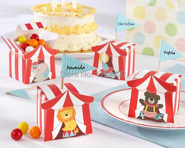 unids animal cajas del caramelo para el carnie de temtica circense nios cajas de regalo
