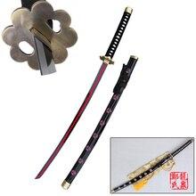 Zoro-Sword Katana Cosplay Anime One-Piece Decorative Blade-Red-Plating Shusuisandai Black