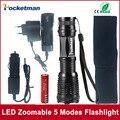 Zk50 4000LM Алюминий E17 CREE XM-L T6 LED Масштабируемые Факелы LED Фонарик Аксессуары Факел Лампы Для 3 АА или 18650 батареи