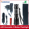 zk50 4000LM Aluminum E17 CREE XM-L T6 LED Torches Zoomable LED Flashlight Accessories Torch Lamp For 3XAAA or 18650 Battery