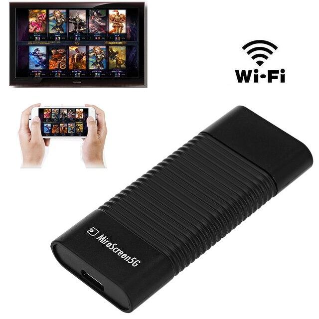 MiraScreen 5G Dongle DLNA Airplay HDMI מקל Miracast Airplay WiFi אלחוטי תצוגת מקלט וידאו מתאם עבור iOS אנדרואיד כדי טלוויזיה