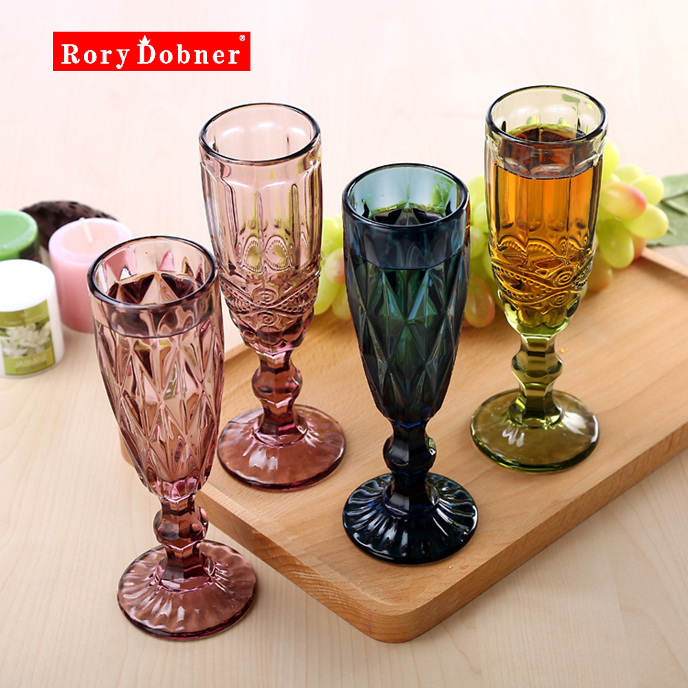 Online Cheap Colored Glass Goblets