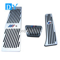 No Drill Pedals Aluminum Fuel Brake Pedal Free Punch AT For BMW E60 E61 E63 E64 E70 M5 M6  Silver Replacement