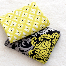 2Pcs 50*150CM VB Cotton Fabric DIY Handmade Bag Pillow Bedding Telas Para Patchwork Lonely Night Glitz Yellow Textile Cloth