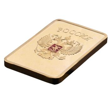 Free shipping RARE 1 OZ. SOVIET RUSSIAN USSR CCCP PURE .999 24K GOLD LAYERED INGOT BULLION BAR, Modern Square Gifts 20PCS/Lot
