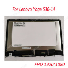 Genuine 14.0 hd fhd display lcd para lenovo yoga 530-14ikb yoga 530-14arr 530-14 tela de toque digitador assembléia lcd 81h9