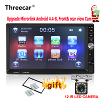 7'' Mirror link Android Double din 2din Car Radio Bluetooth USB MP5 FM Auto Radio Stereo Player Support Front Rear CAM Monitor