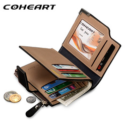 COHEART Brand Wallet Men Leather Men Wallets Purse Top Quality male clutch leather wallet man money bag quality guarantee !!