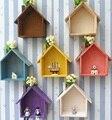 Прекрасный 7 Цветов Средиземноморском Стиле Деревянные Кукольные Домики Дети Детские Девушки Стены Комнаты Украшения Игрушки Западная Детская Комната Декор