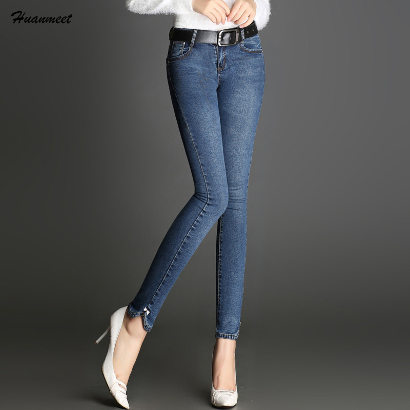Aliexpress.com  Buy 2018 Spring Summer Autumn Skinny Jeans Woman Slim Elastic Denim Pants Blue ...