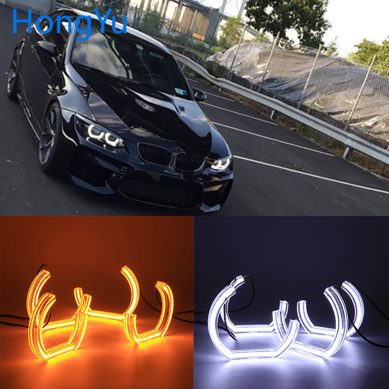 for BMW 3 Series E90 E92 E93 M3 Coupe and cabriolet 2007-2013 Car styling High Quality DTM Style White Crystal LED angel eyes image