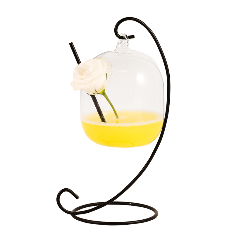 Image 2 - Creative Water Cup New Cocktail Hanging Glass Hanging Bottle Bar Wine Cup Drinking Cup-in Cocktail Glass from Home & Garden