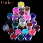 45 Colors Nail Art Make Up Body Glitter Shimmer Dust Powder Decoration feb8
