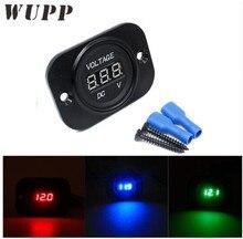 WUPP Dc 12- 24Led Display Voltmeter Car Electric Socket Voltage Meter Socket Digital Voltmeter With Fixed Panel Red/ Blue/ Green