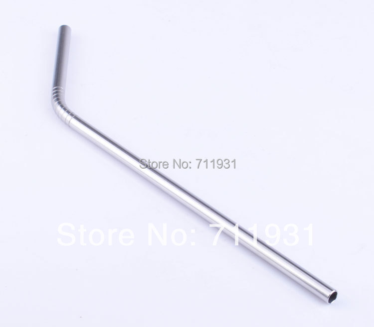 US $9 24 12% OFF|Promotion! Free shipping10pcs/lot Metal drinking straw  stainless steel straw food grade thickness 0 55mm not cheap 0 3mm-in  Drinking