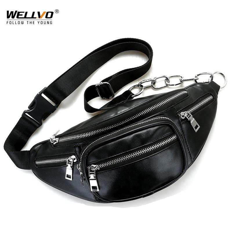 Bolsos de cintura de cuero multifuncional de la PU de las mujeres - Bolsas de cinturón
