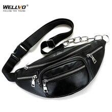 Для мужчин Multi Функция из искусственной кожи сумки на пояс женщин портативный груди мини сумка телефон кошелек ремешок-цепочка поясная XA128WC