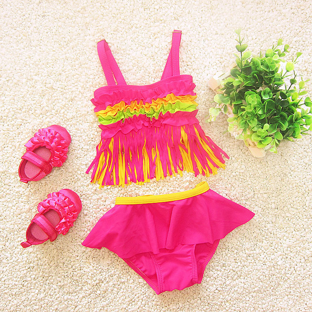 Girls Two-Piece Tassel Bikini