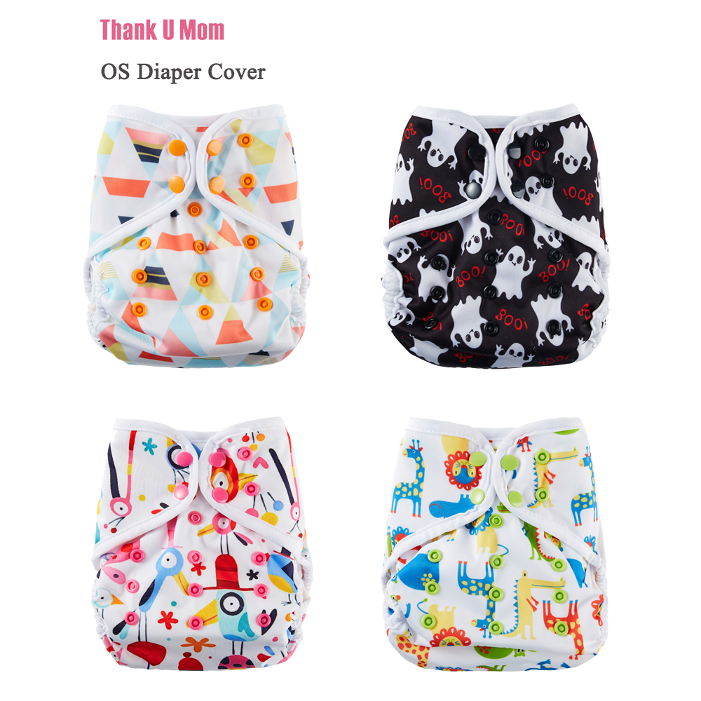 10Pcs Cloth Diapers Baby Diaper Cover One Size Cloth Nappy Waterproof Breathable PUL Fit 8-35 Pounds Babies